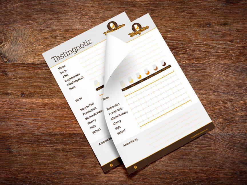 Whiskytasters Tastingnotiz als gratis Download