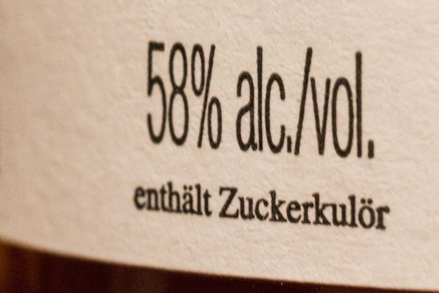 Whiskyetikett - Zucker in Whisky