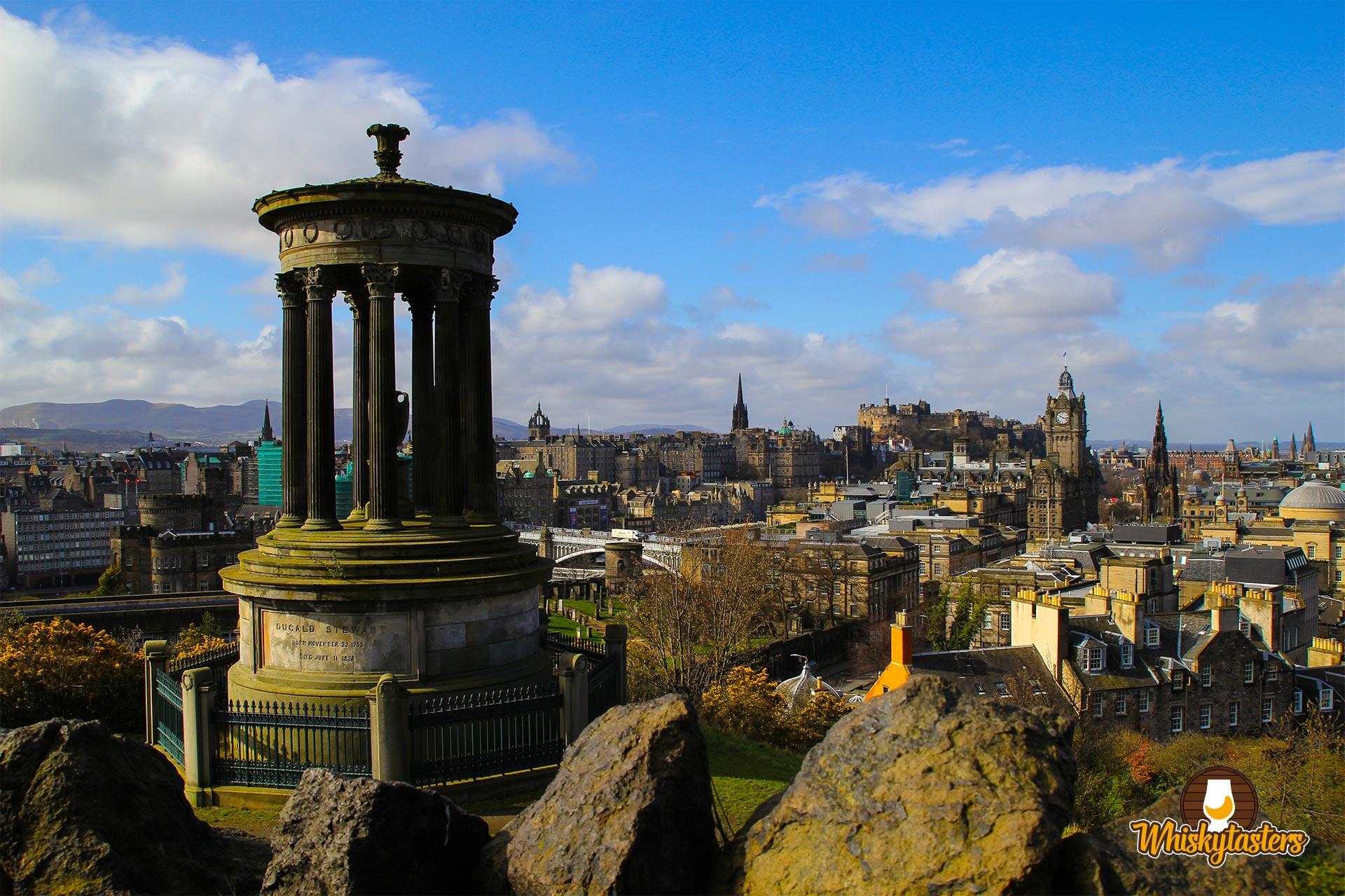 Bilder Schottland - Calton Hill: Ausblick über Edinburgh
