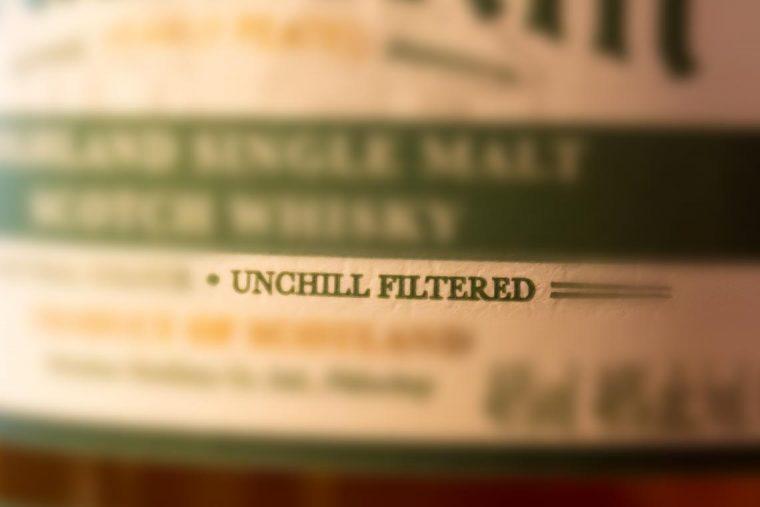 Whiskyblog: Kaltfilterung von Whisky - Whiskyetikett