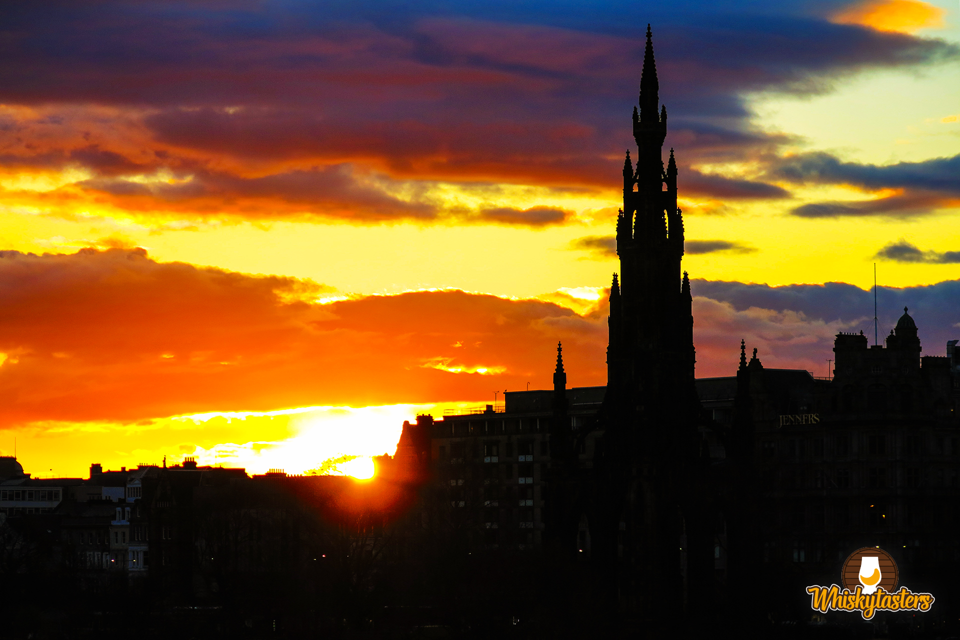 Sonnenuntergang in Edinburgh, Schottland