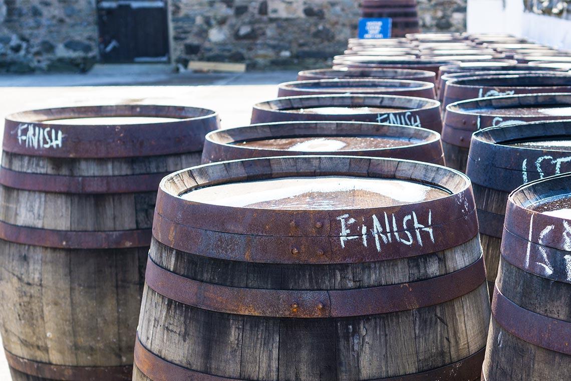 Whisky Finish in Fässern
