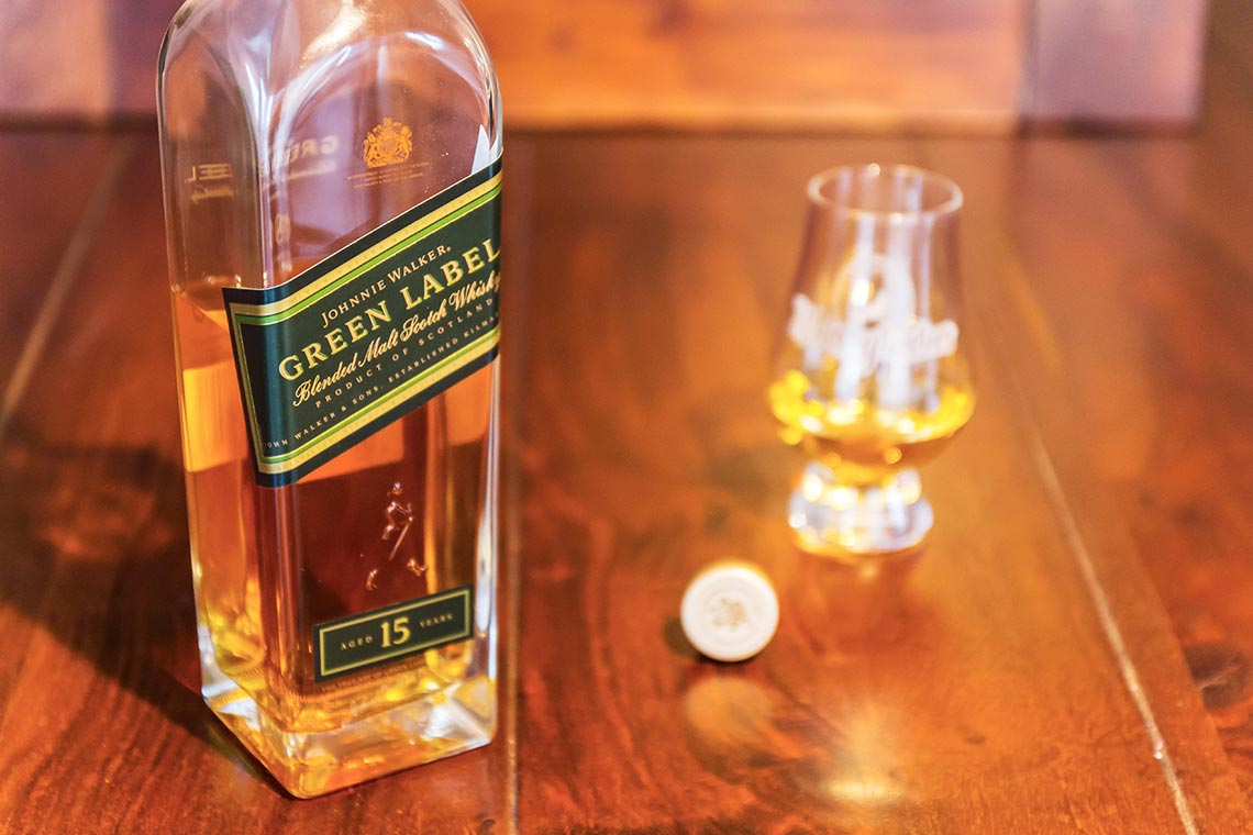 Johnnie Walker Green Label Blended Malt Scotch Whisky