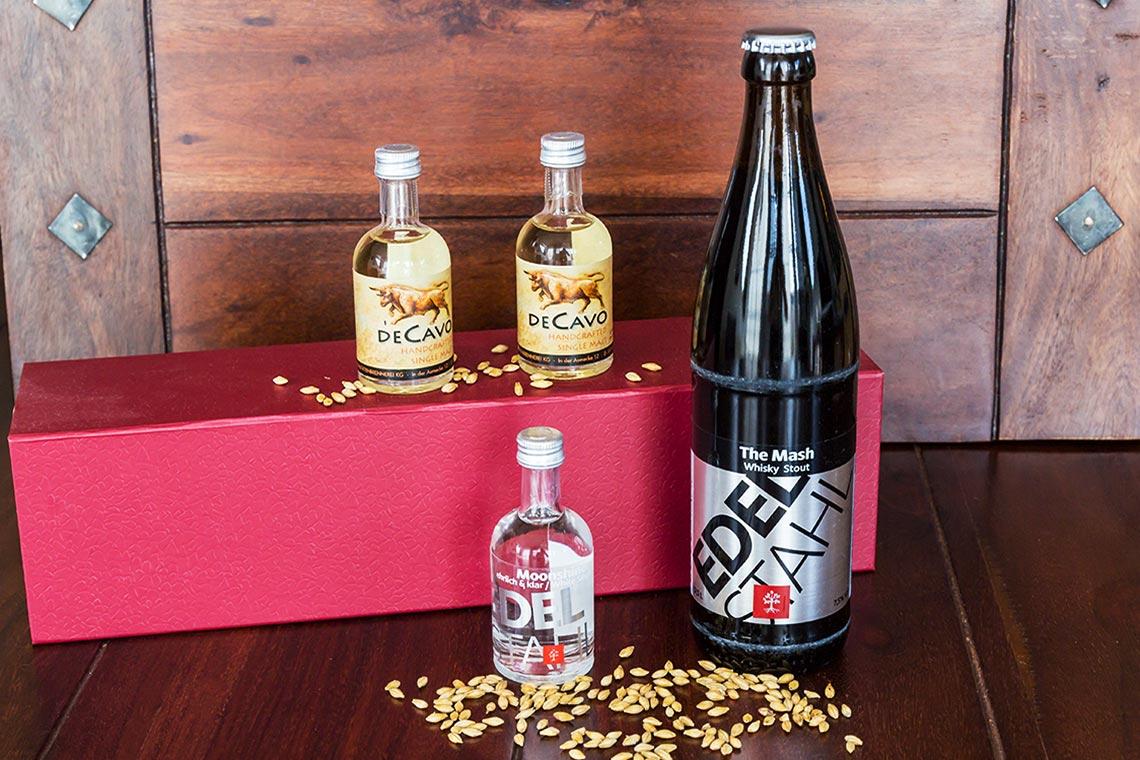 Whiskytastingset for One - Märkische Spezialitätenbrennerei - Inhalt