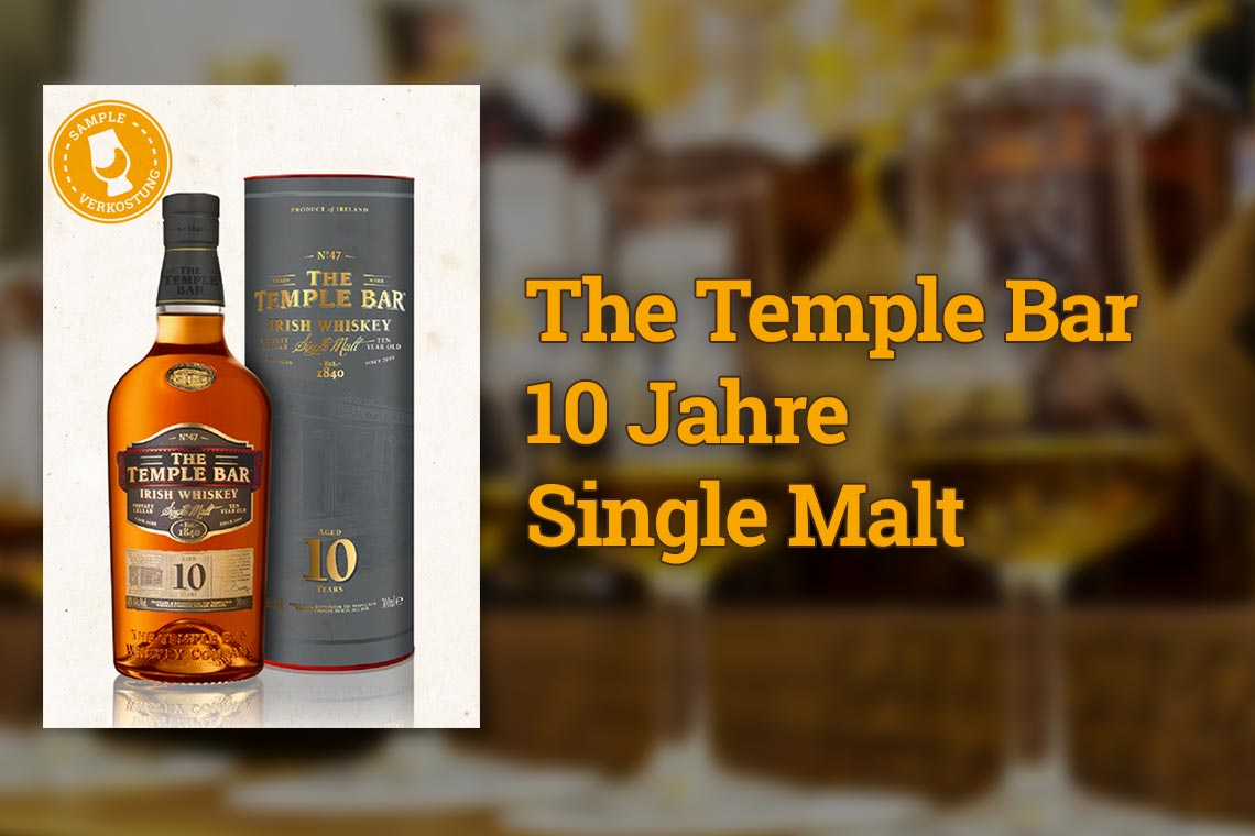 The Temple Bar 10 Jahre Single Malt Irish Whiskey