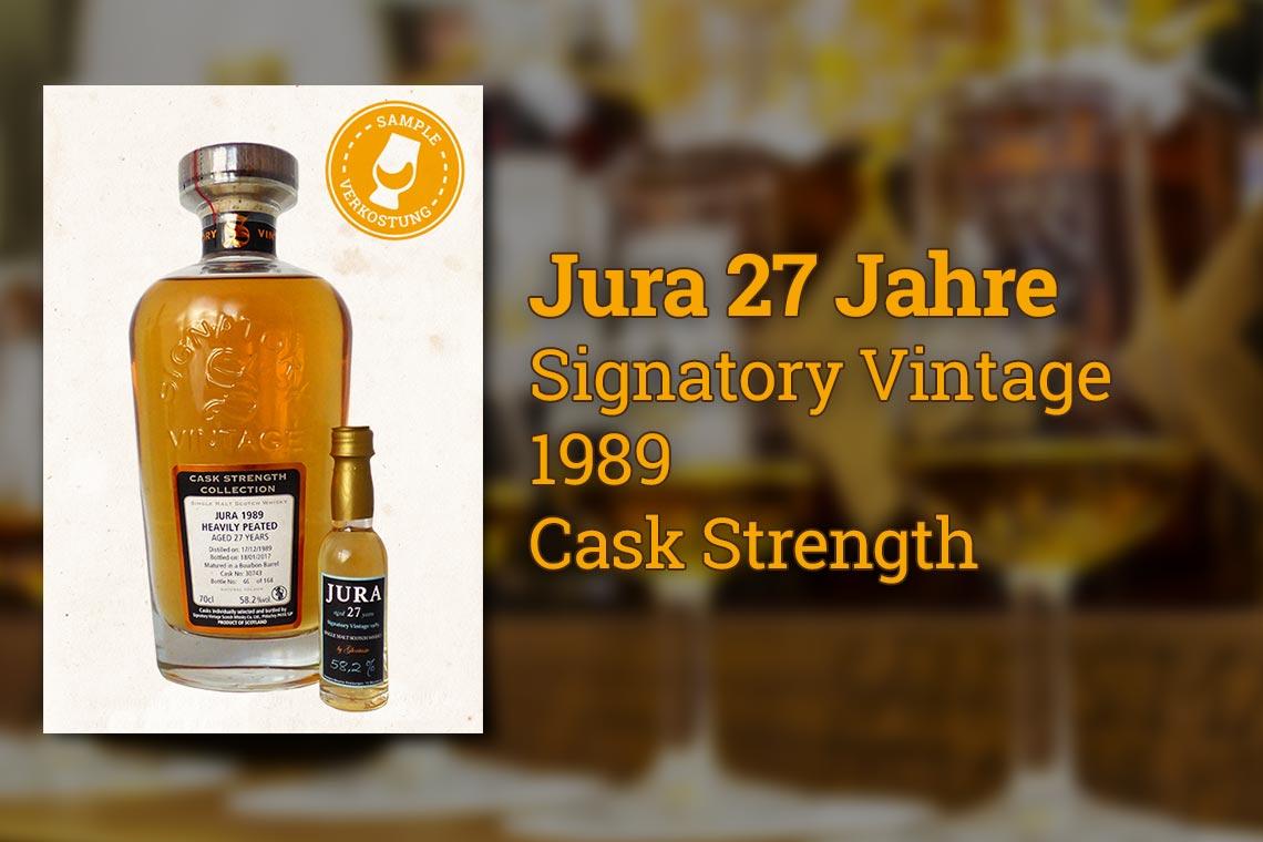 Jura 27 Signatory Vintage 1989 Single Malt Scotch Whisky