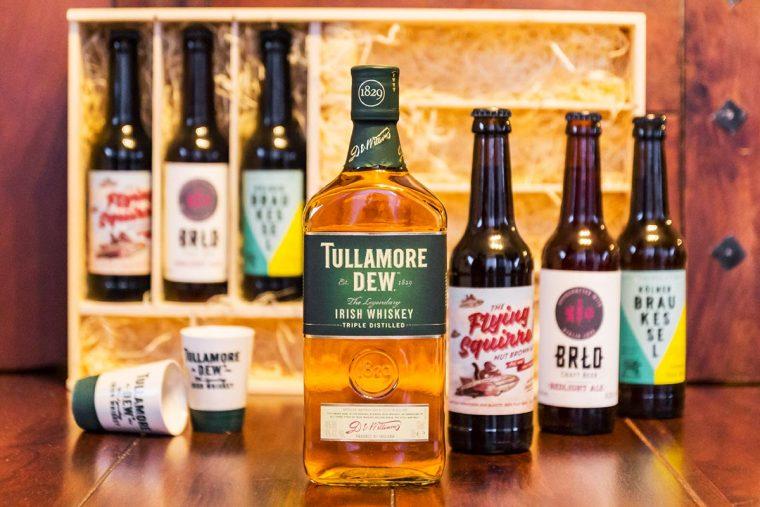 Tullamore DEW Irish Whiskey Set - A D.E.W. & A BREW - Inhalt